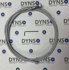 DYNSO Fermator universele kooi/schachtdeurkabel, L=2500mm. Geschikt voor kooi, schacht en sluitgewicht