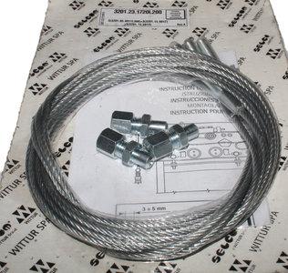 DYNSO Selcom universele kabelset met M8 draadeind en verstelbare eindstop, L=3500mm