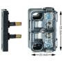 Monitor deurcontact N24 met brugstuk 55*33mm
